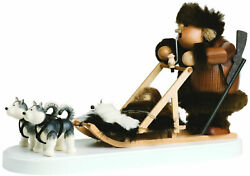 Kwo - Eskimo With Dogsled - German Christmas Smoker / Incense Burner New In Box