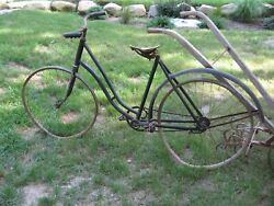 1890s 1910 Antique Eureka Bicycle Wood Rims Project Restoration As Is