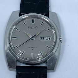 Vintage Seiko Dress Automatic Watch Ref 7006-8090 Grey Dial Day Date