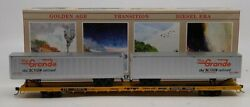 Walthers 932-4951 Ho Scale Ttx-elephant Flat Car W Rio Grande Containers 153976