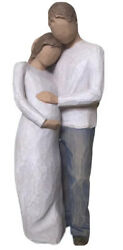 Willow Tree Hand-painted Figure Baby Pregnant Couple Home Expecting Gift