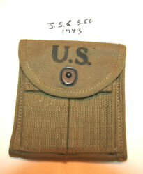 Wwii M1 Carbine Stock Pouch,j.s And S Co. 1943 Nos Orig.usgi