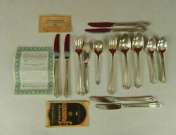 26 Pcs Viande 1847 Rogers Brothers Stainless Flatware