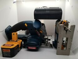 Ryobi Circular Saw And Jigsaw Power Tools P500/p520 With Battery And Charger