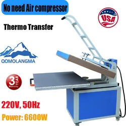 Qomolangma 31in X 39in Clamshell Thermo Transfer Heat Press Machine 220v 6600w