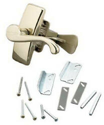 Georgian Screen And Storm Door Latch, Polished Brass -vgl025-555