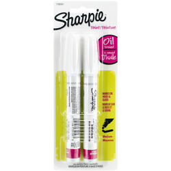 3 Pack Sharpie Medium Point Oil-based Opaque Paint Markers 2/pkg-white -1782041