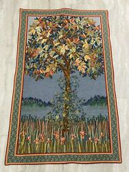 Flanders Tapestry Tree Of Life Flemisch Tapestry Made In Belgium 32quot;X50quot; NICE