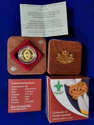 🌟2008 10 Centenary Of Scouts Australia 1/10 Oz Gold Proof Coin Numbered0763