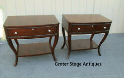 62327 Pair Thomasville Nightstand End Table Stands
