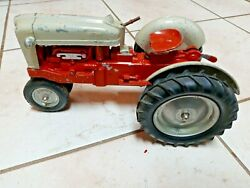 Vintage 1950's Hubley Die Cast Farm Tractor From The Kiddie Toy Company