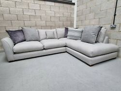 Sold Dfs Salcombe Sectional Grey Fabric Left Hand Facing Corner Chaise Sofa
