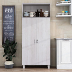 Watson White Oak Pantry Cabinet With Double Doors
