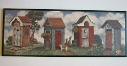 Outhouse Wall Decor Picture Big Country Bathroom Primitive Bath Rustic