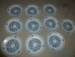 Noritake Progression Blue Moon Bread And Butter Plate Lot Of 10 Japan 6 3/8 9022
