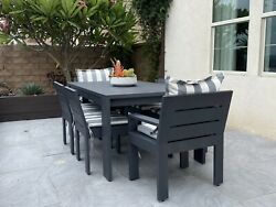 Restoration Hardware Outdoor Dining Furniture Set Cushions Included Not Rh
