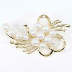 Jewelry Mikimoto 14k Yellow Gold Brooch Pearl About14.4g Free Shipping Used