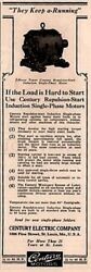 1926 Ad Century Electric Co 2 Horse Power Repulsion Start Induction Motor