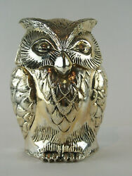 A Rare Mid Century Mauro Manetti Silver Plated Owl Ice Bucket - C1960 - 19cm