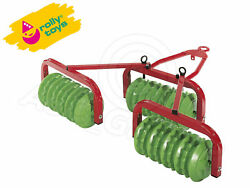 Rolly Toys - Tripple Disc Harrow - Cambridge Roller - For Rolly Pedal Tractors