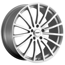Staggered Tsw Mallory Front 19x8, Rear 19x9.5 5x120 Silver/mirror Wheels Rims