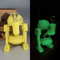 Collectible Glow In The Dark Star Wars R2d2 Hookah Tobacco Glass Bong Bubbler