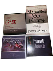 Lot Of 4 Joyce Meyer Cd And Book Self Help Religious Christian Cds Walking In Love