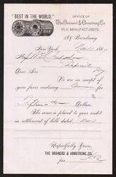1887 Brainerd And Armstrong Co - Silk - History - New York - Letter Head Rare