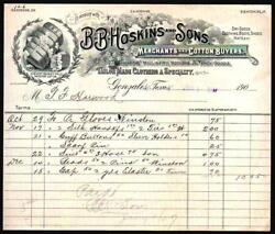 1907 Gonzales Texas - B B Hoskins And Sons - Boots Shoes Hats New York Letter Head