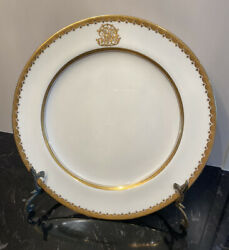 Antique Mintons R. Briggs And Co. Boston Gold Gilt 10.25 Dinner Plates Set Of 6