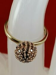 Wow Exquisite 'candy Apple' 0.75 Carat Red Diamond 9k Yellow Gold Ring - Size 5