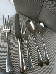 8 Old English Sheffield Silver Plate Cutlery Set Mappin And Webb Knives Included