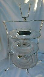 Stunning Original English 1920s 3 Tier Silver Plate Cake Stand Excellent Quality