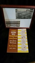 Watchtower Original Post Cards And Convention Program Report- 1958 Rare In Frame
