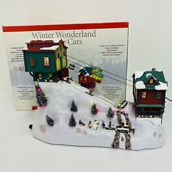 Mr. Christmas Winter Wonderland Cable Cars And Skiers Lighted Village Tested Works
