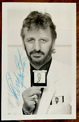 Signed Promo Photo Ringo Starr Obtained Via Post 1980and039s Fab Autograph Beatles