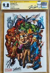 Avengers 1 Cgc 9.8 2014 Sdcc The Marvel Universe And Stan Lee Ss Lee And Jsc
