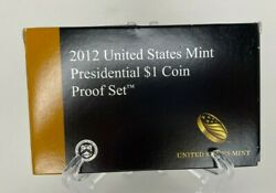 2012-s Us Mint Presidential Proof Dollar 4-coin Set - Box And Coa