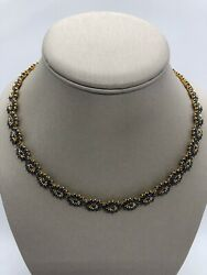 18k Gold Plated Necklace Natural Blue Sapphire