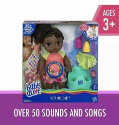 New Hasbro Baby Alive Potty Dance Baby Doll Curly Hair E0304 African American