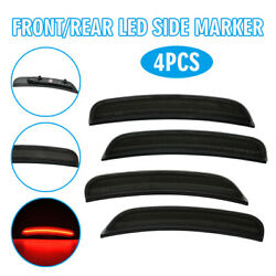 Sale 4pcs Front And Rear Led Smoked Lens Side Marker Lights For Dodge Charger