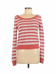 American Eagle Outfitters Women Orange Pullover Sweater M