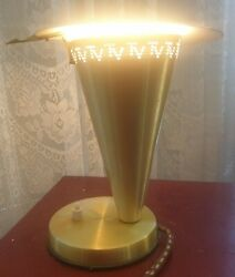 Vintage Mid-century Gold Anodised Rite-lite Tv Lamp 24cm Tall Circa Late 1950and039s