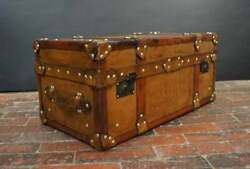 Halloween Antique Handmade Vintage English Leather Trunk Coffee And Chests Table