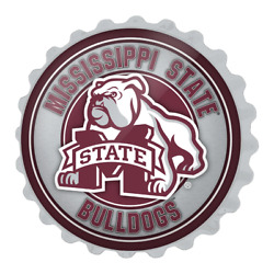 Mississippi State Bulldogs Mascot - Bottle Cap Wall Sign