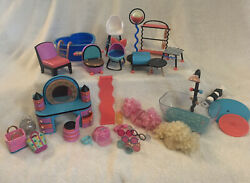Mga Lol Surprise Doll Furniture Doll House Clothes Rack Vanity Toilet Tub Etc