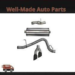 Corsa For Cadillac/gmc/chevy 304 Ss Cat-back Exhaust System Dual Side 14826blk