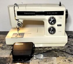 Vintage Sears Kenmore Portable 158.1786081 Sewing Machine With Case - Untested