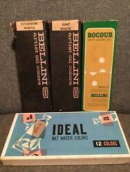 Lot Of Vintage Paint Supplies- All New And Unused