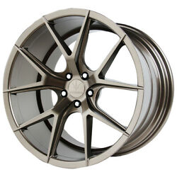 Staggered Verde V99 Axis Front 20x9 Rear 20x10.5 5x112 Bronze Wheels Rims
